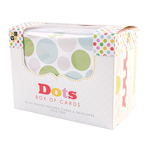 DCWV Cards and Envelopes, Dots, 40-Pack, Size A2, 4-1/4 x 5-1/2 inches