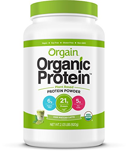 Orgain Organic Plant Based Protein Powder, Iced Matcha Latte, Vegan, Non-GMO, Gluten Free, 2.03 Pound, 1 Count, Packaging May Vary 41McZsTNvaL