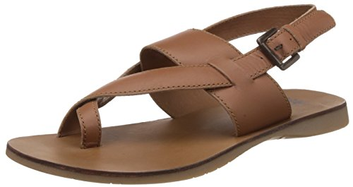 United Colors of Benetton Mens Brown901 Leather Sandals and Floaters - 6 UKIndia (40 EU)