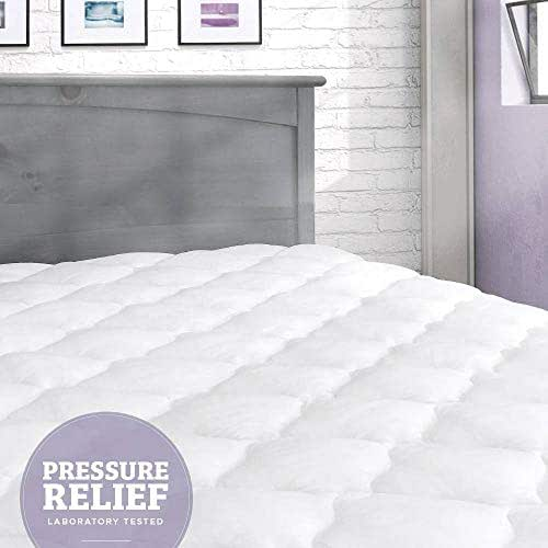 eLuxurySupply Pressure Relief Mattress Pad with Fitted Skirt | Bedsore Prevention Mattress Pads | Hypoallergenic Mattress Topper | Made in The USA, Back to School Dorm Size Mattress Pad, Twin XL