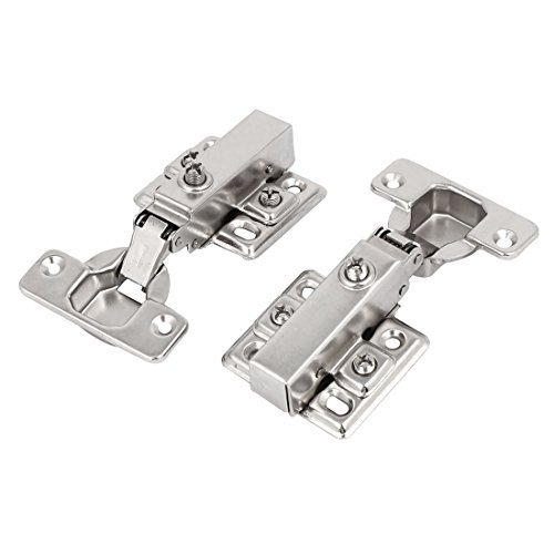 DealMux 110mm Length Concealed Self Close Full Overlay Cabinet Door Hinges 2pcs