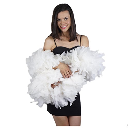 Zucker Feather Products Turkey Boa 10-14 Inch Diameter Solid, White