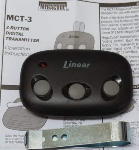 MCT-3 Linear Mega Code 3-Button Garage Door Opener Remote DNT00089 LD033 LD050 -