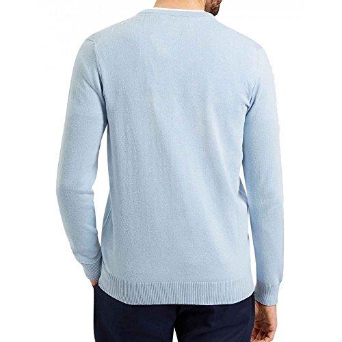 Lyle & Scott - Pull Lyle & Scott V-Neck Cotton Merino Jumper - L, Bleu