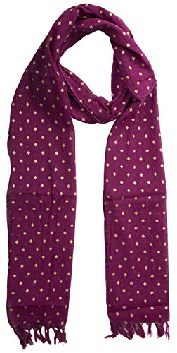 (KNIT SILK Women's Pure Silk Abstract Print Scarf (Maroon, 36 inches x 36 inches, Pack of 1))