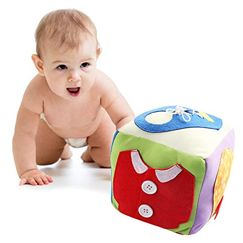 LtrottedJ Baby Toys Cloth Building Blocks Rattle Soft Play Cubes Early Educational -