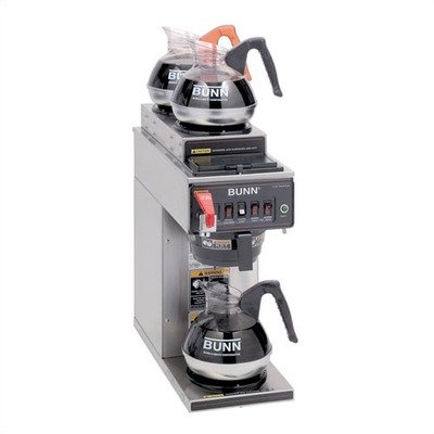 CWTF15–3 - Automatic Coffee Maker Brewing Capacity: 7.5 gal./hr. (120 / 208 / 240 V), Type: Plastic Funnel
