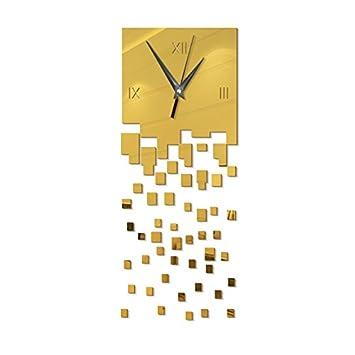 Amazon.com: DIY Sun Acrylic Mirror Wall Clock Stickers Wall Stickers ...