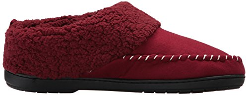 Dearfoams Womens Mfs Intasare Con Whipstitch Cabernet