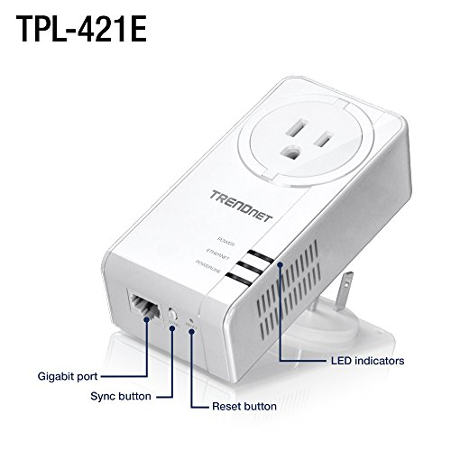 TRENDnet Wi-Fi Everywhere Powerline 1200 AV2 Dual-Band AC1200 Wireless Access Point Kit, Includes 1 x TPL-430AP and 1 x TPL-421E, White, TPL-430APK by TRENDnet (Image #2)