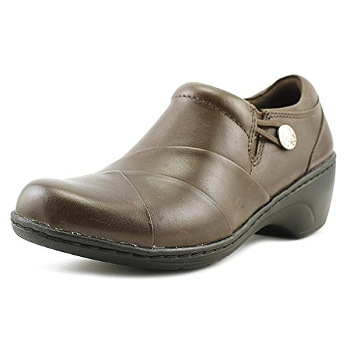 CLARKS Womens Channing Ann Leather Closed Toe Clogs, Brown, Size 9.0 ()