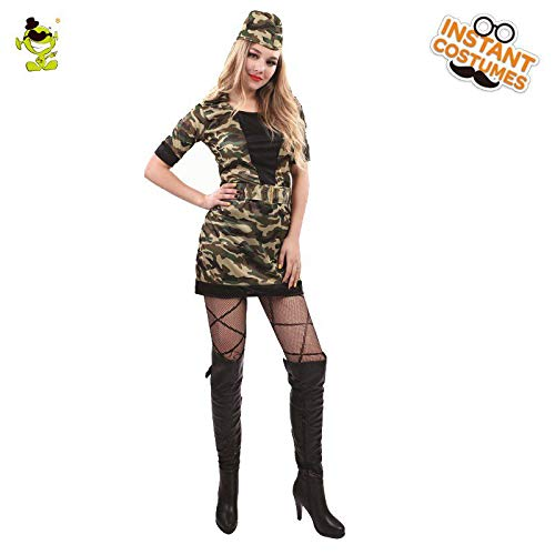 okanhyeu Solider Carnival Party Halloween Costume for Women, Girl