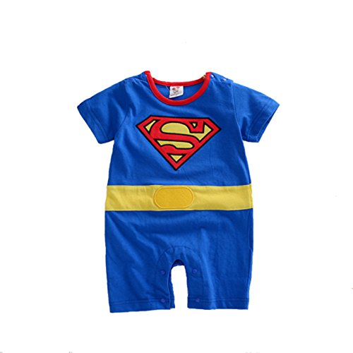 VogueFashion Baby Superhero Jumpsuit with Removable Cape and