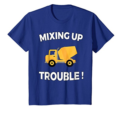 Price comparison product image Kids Funny Construction Mixer Truck T Shirt Little Boys Toddlers 4 Royal Blue