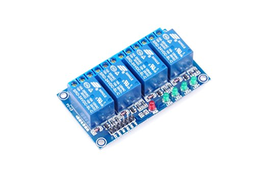 4-Channel DC 05V / 09V / 12V / 24V Relay Module Low Level Trigger With Isolation Slot With Indicators 4-NC 4-NO for Arduino, industrial control, Home appliance control and more (DC - Slot Industrial Relay