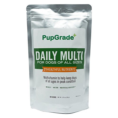 PupGrade Dog Vitamins - Best Daily Multi Vitamin for Dogs, Probiotic Enzymes, Fish Oil (Omega 3 6 9) for Skin & Coat, Vitamins A, C, D & E, All Natural (Pooch Liver Treats)