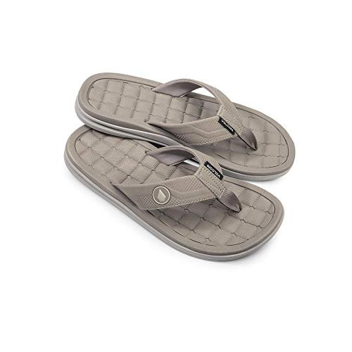 (Volcom Men's Drafted Recliner Beach Sandal, Tan, 10 D US)