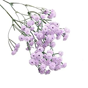 Jonerytime Artificial Flowers, Artificial Silk Fake Flowers Baby's Breath Floral Wedding Bouquet Party Decor 17
