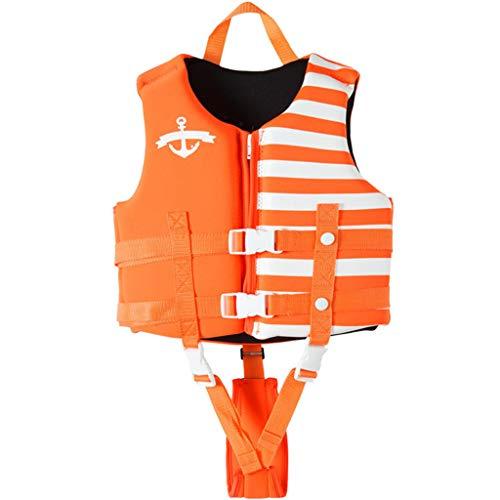 JiAmy Kids Swim Vest Children Float Vest Swimming Training Learn to Swim Orange L