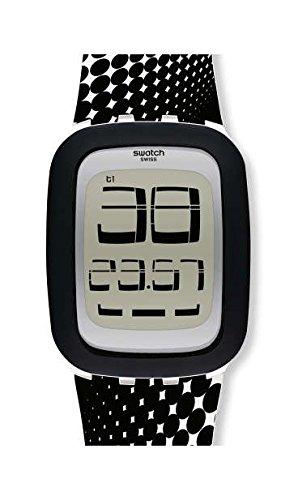 Swatch Reloj Hombre de Digital con Correa en Silicona SURW116: Amazon.es: Relojes