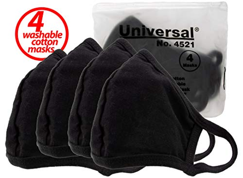 Universal 4521 Face Masks - 100% Cotton, Washable, Reusable Cloth Masks - Protection from Dust, Pollen, Pet Dander, Other Airborne Irritants