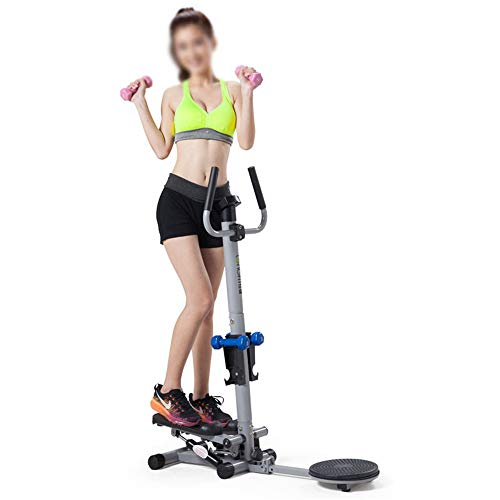 Yao Space Aerobic Exercise Stepper 2 in 1 Multi-Function Mini Stepper Home Trainer with LCD Display and Handle Body Twister Elliptical - Stride Variable Elliptical