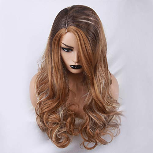FORUU Wigs, 2019 Valentine's Day Surprise Best Gift For Girlfriend Lover Wife Party Under 5 Free delivery Mix Colors Fashion Cosplay Synthetic Long Curly Hair Wig Costume Wigs For Party ()