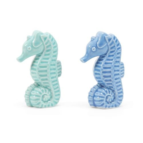 Department 56 6002199 Gone to The Beach Seahorse Salt and Pepper Shaker Set, 2.75