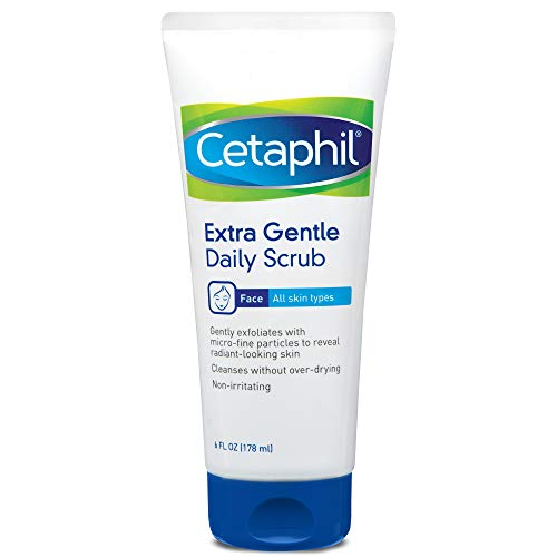 Extra Gentle Daily Scrub,Gently Exfoliates & Cleanses Without Over-drying, For All Skin Types, Non-Irritating & Hypoallergenic,Suitable For Sensitive Skin, 6 Fl Oz, Pack of 2