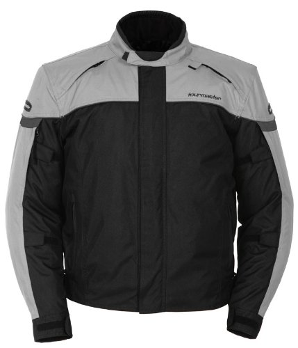 Tour Master Jett Series 3 Men's Textile Sports Bike Motorcycle Jacket - Silver/Black / Large