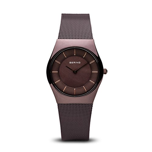 BERING Time 11930-105 Womens Classic Collection Watch with Mesh Band and scratch resistant sapphire crystal. Designed in Denmark.