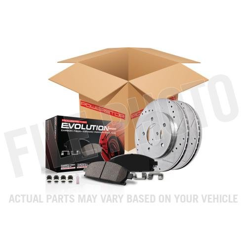 Power Stop K6372 Front Z23 Evolution Brake Kit with Drilled/Slotted Rotors and Ceramic Brake Pads
