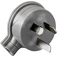 CD106/1GY HPM 3 Pin Flat Plug Top Grey Side Entry - Low Profile Rated: 10Amp 240Volts Ac Rated: 10Amp 240Volts Ac…