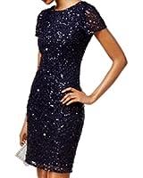 Adrianna Papell Women's Long Beaded Dress...