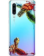 Oihxse Funda para Huawei P8 Lite 2017 Transparente, Estuche con Huawei P8 Lite 2017 Ultra-Delgado Silicona TPU Suave Protectora Carcasa Océano Animal Serie Bumper (C9)