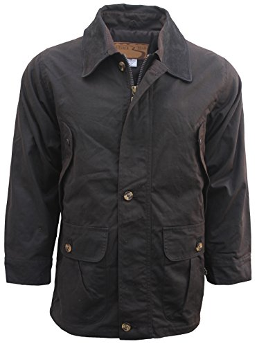 - Outback Trail by Foxfire, Oilskin, Oilcloth, Waterproof Barn Coat Brown X-Small