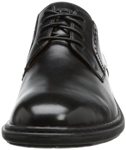 Clarks Un Walk - Zapatos con cordones de cuero hombre Negro (Black Leather)