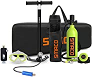 SMACO Scuba Tank Diving Gear for Diver Mini Scuba Tank Oxygen Cylinder with 15-20 Minutes Capability Diving Ox