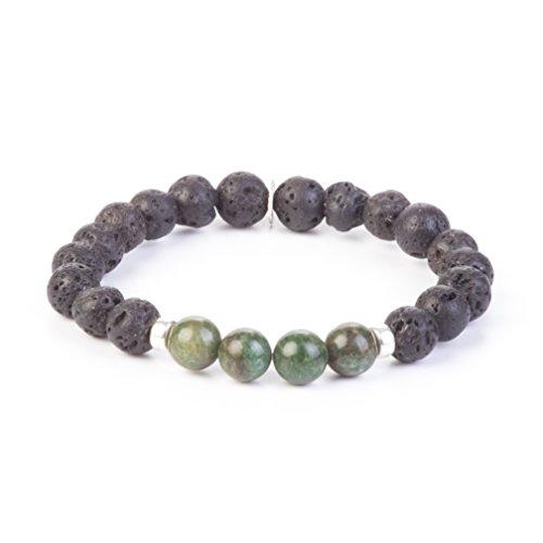 Kuratif Men Mala Bead Bracelet by Lava and Jade- Abundance, Prayer, Japa Mala, - Jade Made Beads Prayer