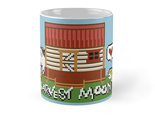 Harvest Moon Cross Stitch Design 11oz Mug - Great gift for family and friends.