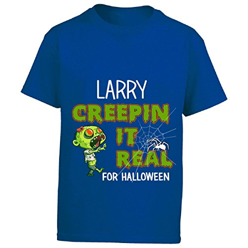 Larry Boy Costume (Larry Creepin It Real Funny Halloween Costume Gift - Boy Boys T-shirt)