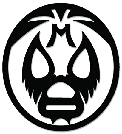 Amazon.com: Lucha Libre Luchador Mask Mexican Wrestling Vinyl Decal ...