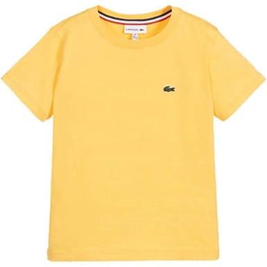 Lacoste Summer 2020 - Camiseta para niño, Color Amarillo: Amazon ...