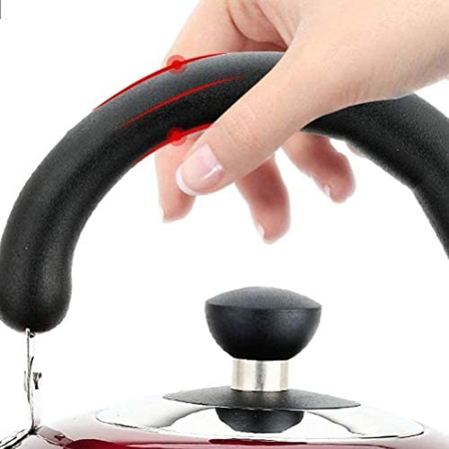 HSWJ Bouilloire pour cuisinière Bouilloire Théière en Acier Inoxydable Ménage Whistle Teapot Convient for Cuisinière à gaz Cuisinière à Induction 4L Bouilloire en Acier Inoxydable