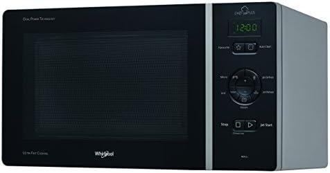 Whirlpool MCP344SL Forno a Microonde Chef Plus + Grill, 25 Litri, Argento, con steamer, girlgia alta