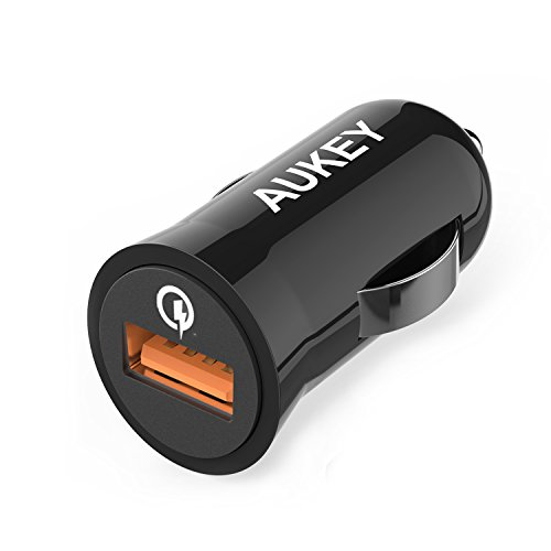 Quick Charge 2.0 AUKEY 18W USB Car Charger for LG G4, Samsung...