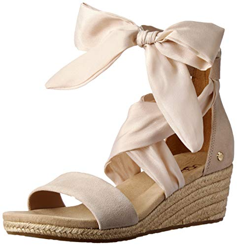 UGG Women's Trina Wedge Sandal, Nude, 9 M US ()