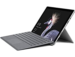 "Microsoft Surface Pro 5 or 6 12.3"" Touch-Screen (2736 x 1824) Tablet PC, Intel Core M3/i5-8250U, 4GB/8GB RAM, 128GB SSD, Wi-Fi, Bluetooth 4.1, MicroSD, Windows 10 Home, Optional Type Cover"