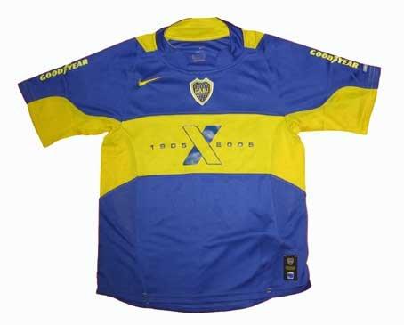 Boca Juniors Shirts (Nike Junior Boca Juniors Centenary 2005 Home Junior Football Shirt Size M)