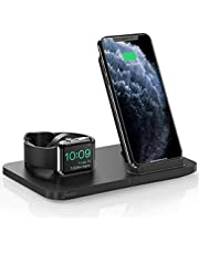 Seneo 2 in 1 Wireless Charger, Dual Wireless Charging Station, iWatch Charging Stand, Nightstand for Apple Watch 5/4/3/2, 7.5W Fast Charge for iPhone 11/Pro Max/XR/XS/X/8 (No iWatch Cable or Adapter)